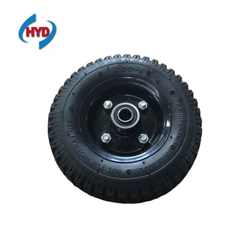 "8""*2.50-4 low-speed rotation pneumatic tyre wheels for wheelbarrow"