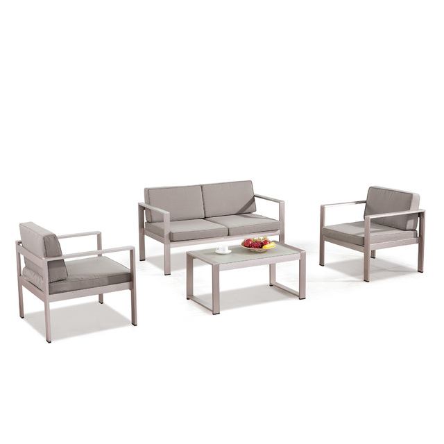 outdoor sectional metal. Enduring Metal Frame Aluminium Powder Coated Spray Outdoor Sectional Sofa