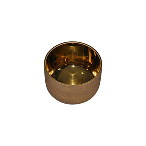 HF All Notes Plated Gold Crystal Singing Bowls Chakra Sets For Easing Pressure
