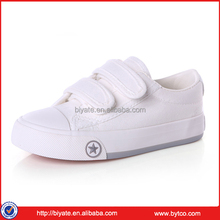 Classical buckle strap children white school casual canvas shoes colorful kies shoes