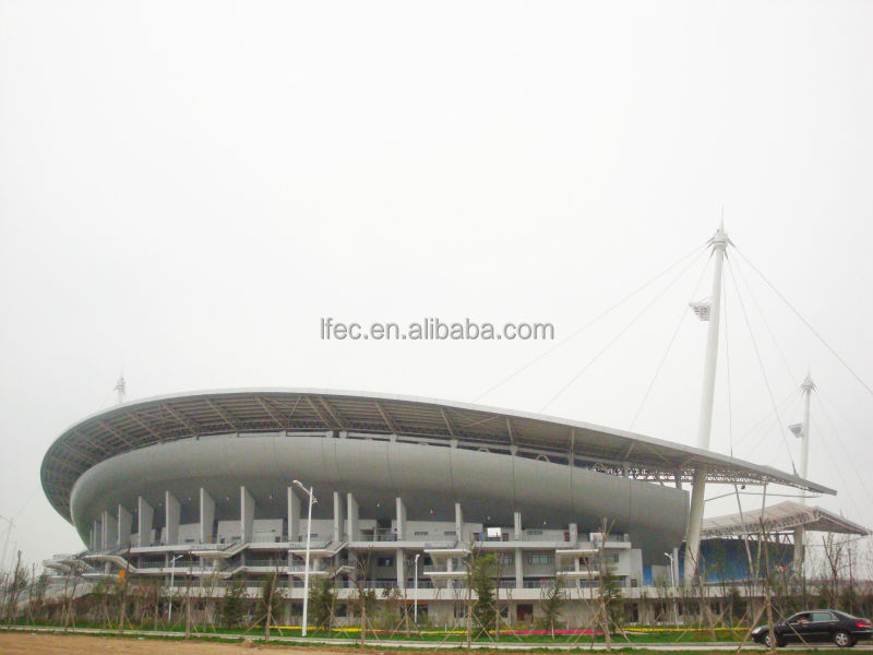 Light steel structure dome gazebo for football stadium