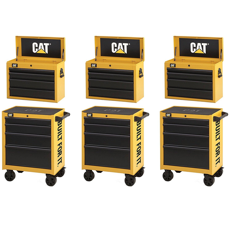 "Waterloo CAT2-IND2604CA Caterpillar (3) 26"" Cabinet, (3) Tool Chest"
