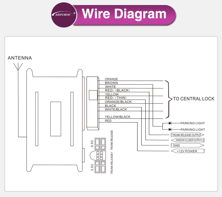Plc Car Alarm Wiring Diagram : Factory price plc car alarm security system keyless entry