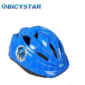 6 Vents open pads tape on standard CE children colorful bike helmet