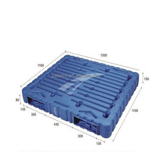 1300*1100*150mm Durable Double Faced HDPE Heavy Duty Blow Molding Euro Plastic Pallet For Sale