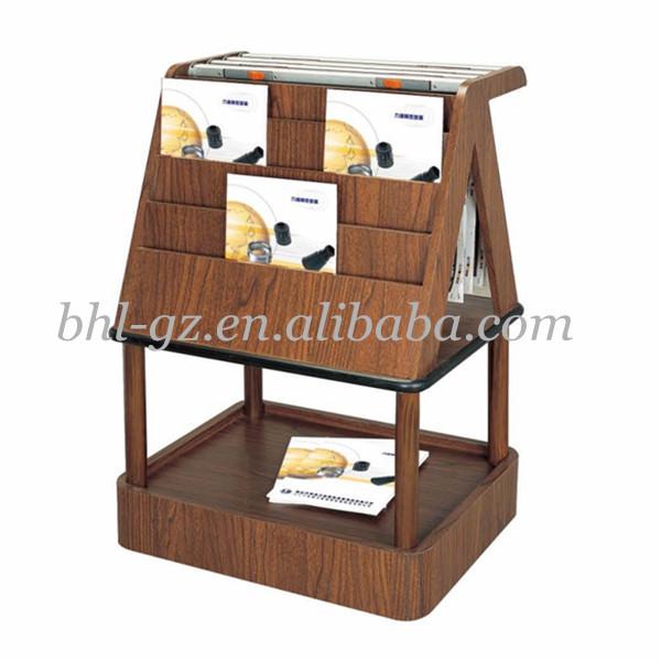 Wood Book Rack ~ Wooden book holder stand bathroom magazine rack storage
