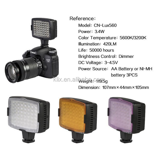 Nanguang CN-LUX560 For Camera DV Camcorder Lighting LED Video Light Lamp Led Light Video