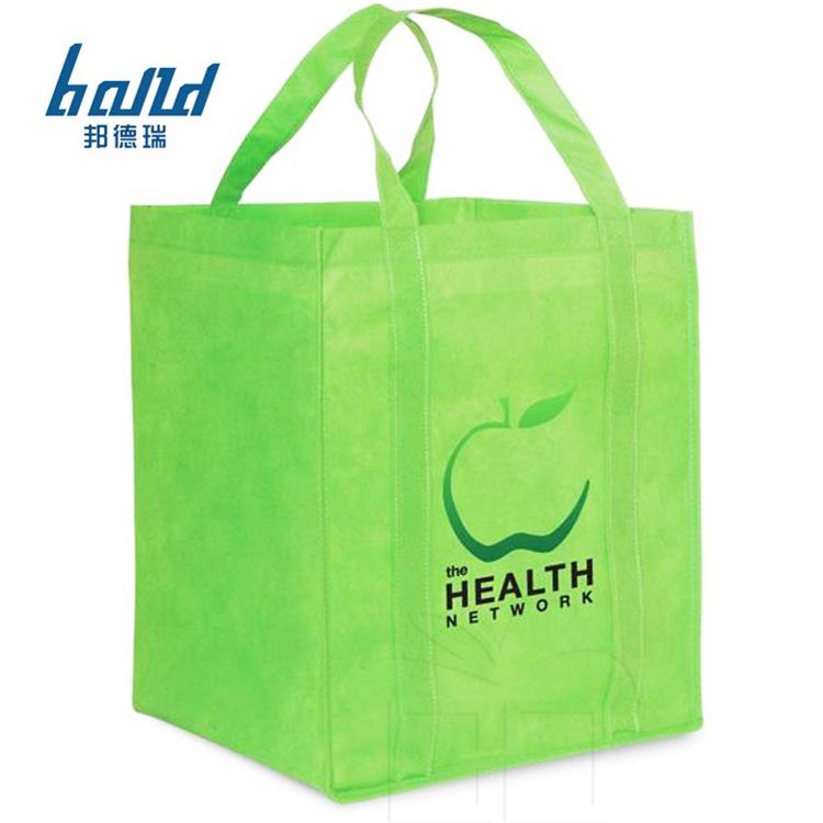 Yaratıcı ekolojik promosyon jüt ucuz logo doğal elyaf yeşil alışveriş çantaları