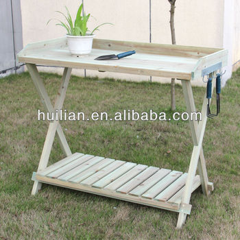 Exceptionnel HL1087 Wood Potting Bench Outdoor Wooden Furniture