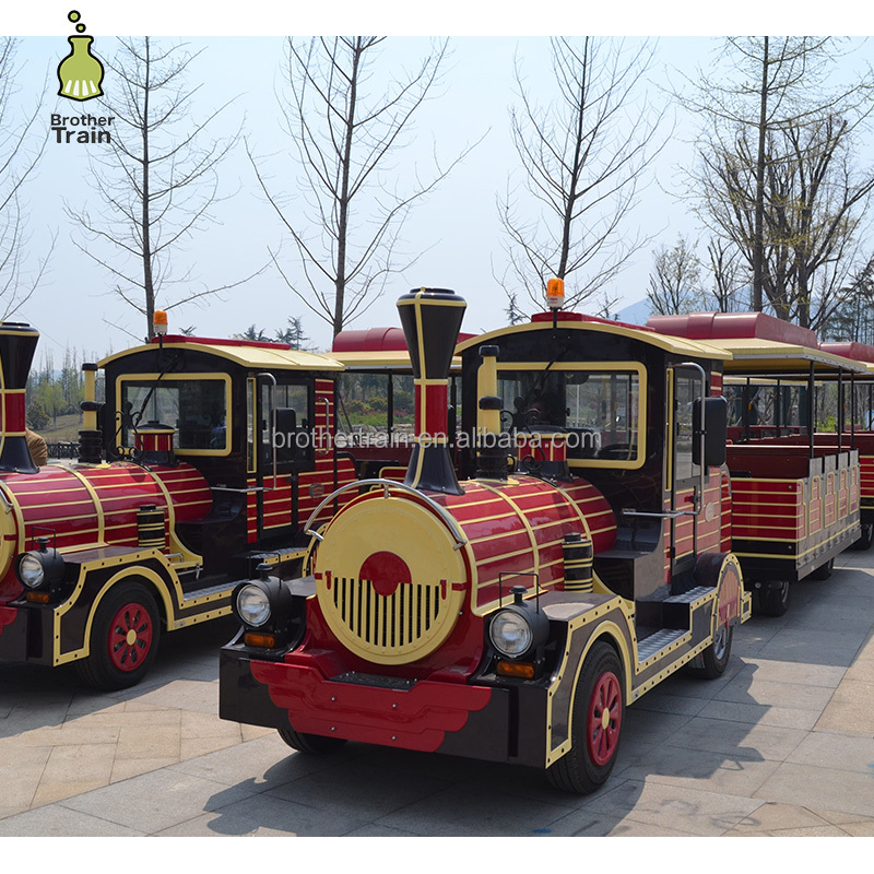 Life size vintage adults and kids amusement park electric trains for sale