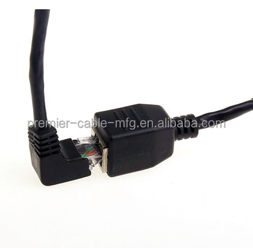 8P8C FTP STP UTP Cat 5e Male to Female Lan Extension Adapter Angled 90 Degree