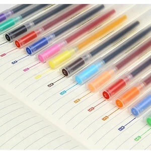 Premium Quality Muji Style 15 colors 0.5mm gel pen, 0.38mm Multi-colors gel ball-pen 10pcs/set