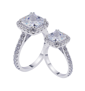 China Jewelry Wholesaler Luxury Designs Silver Diamond Engagement ring for wedding