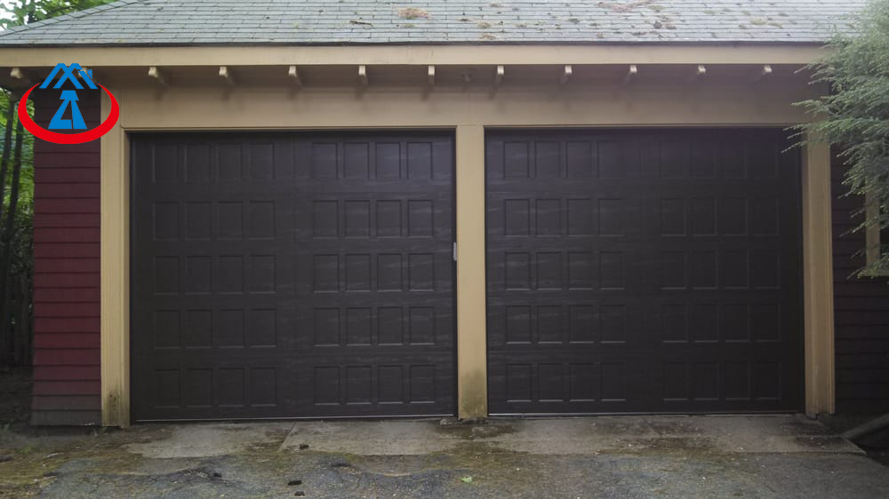 product-High Quality Wooden Color Security GarageDoor for House-Zhongtai-img-1