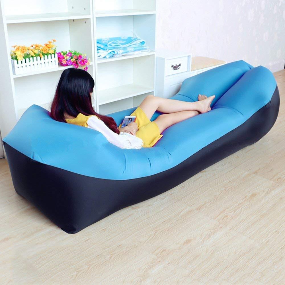 ONETWO Portable Outdoor Air Sofa,Skin-friendly Waterproof Comfortable Air Sofa Hammock,Beach Backyard Air Lounger