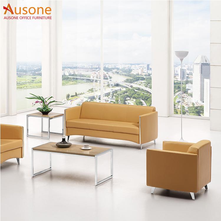 Simple Design Genuine Leather Sofa Set