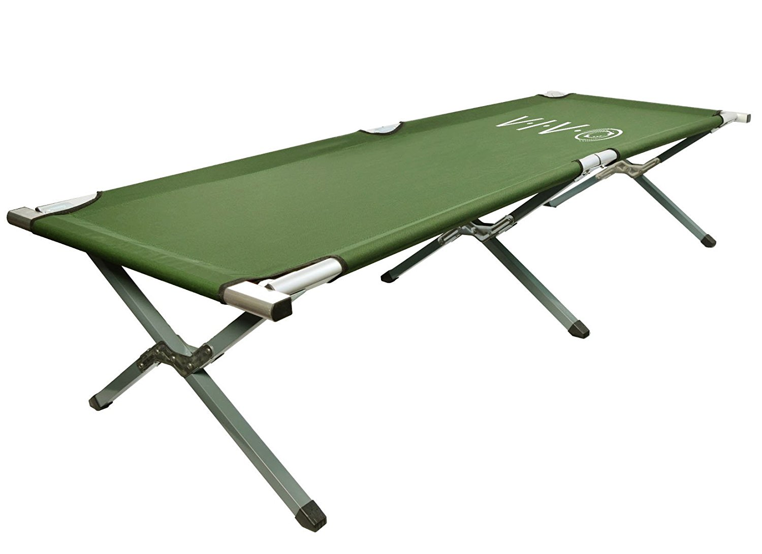 VIVO Cot, Fold up Bed, Folding, Portable for Camping, Military Style w/Bag
