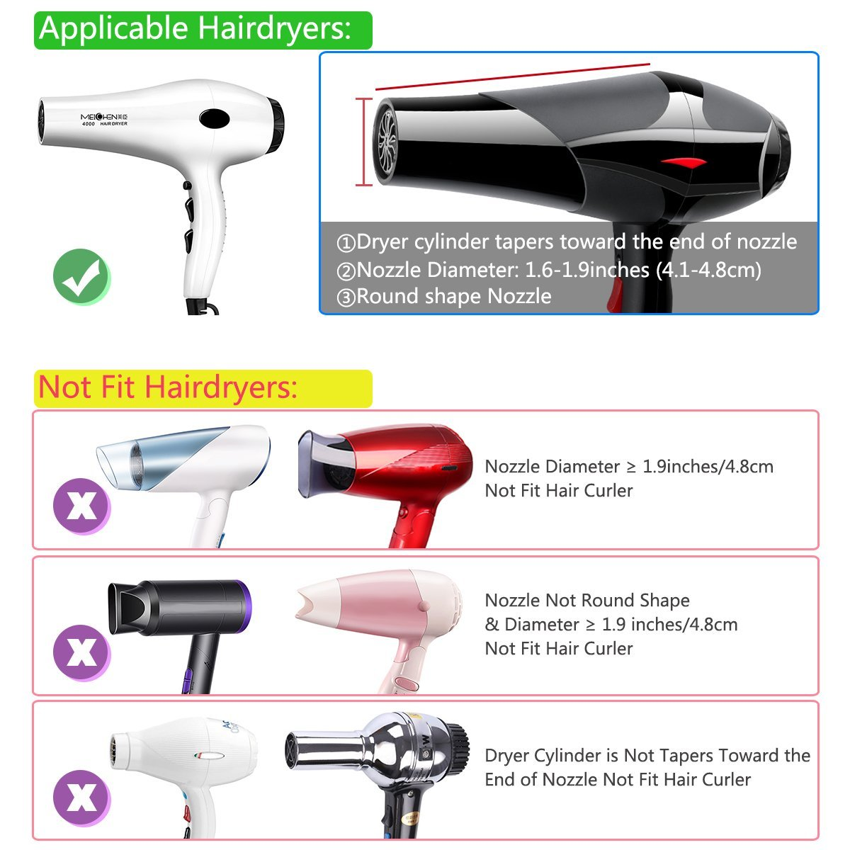 Diffuser Magic Wind Spin Curl  Salon Styling Tools Roller Curler Make Hair Curly Without Damage Hair Dryer