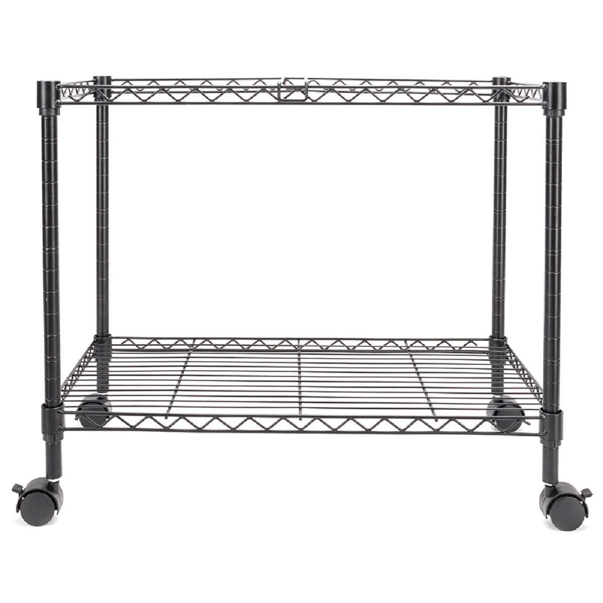 """Single Tier Rolling File Cart 23-3/5L x 12-3/5D x 18H"""" Black by Sunbizpro"""