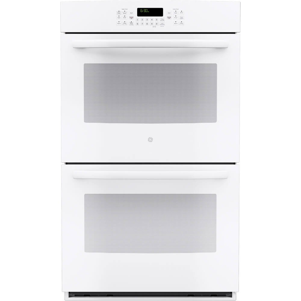 "GE JT5500DFWW 30"" White Electric Double Wall Oven - Convection"