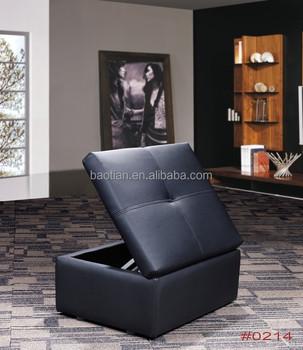 Genuine Leather Sofa Cum Bed Furniture With Storage Ottoman Or Storage  Stool - Buy Storage Stool,Storage Ottoman,Sofa Cum Bed Furniture Product on  ...