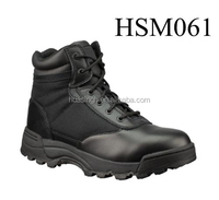 rubber stitched outsole G.I. type black ankle sport army boots military safety footwear