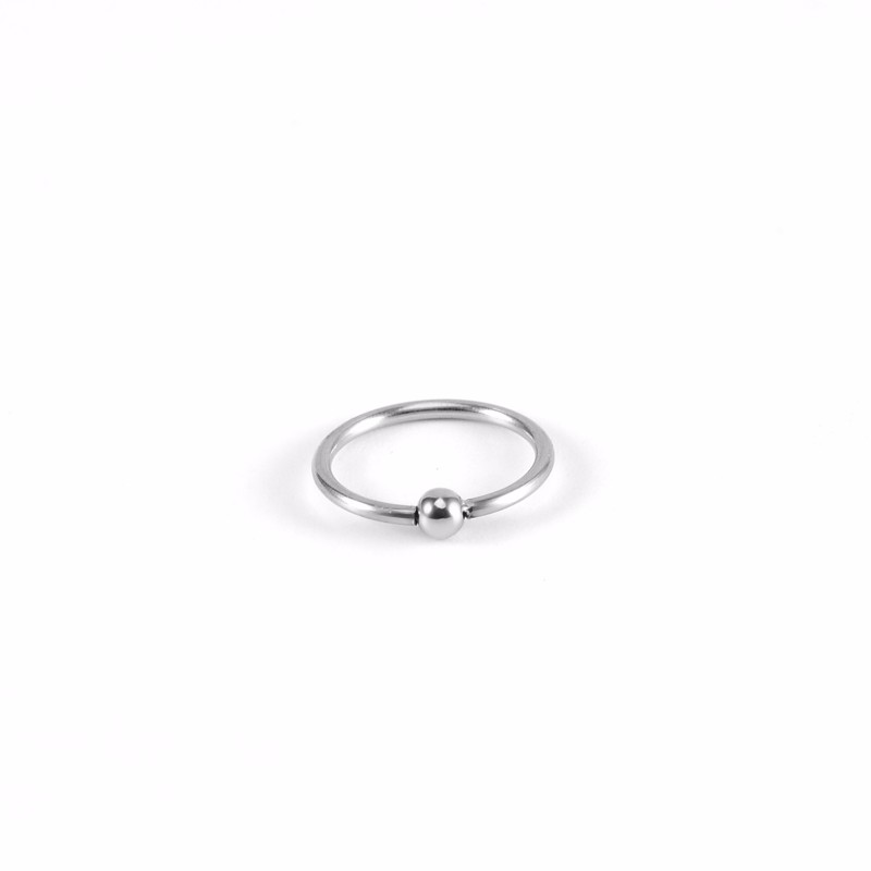 Hot selling BCR eyebrow jewelry fashion stainless steel eyebrow ring with ball
