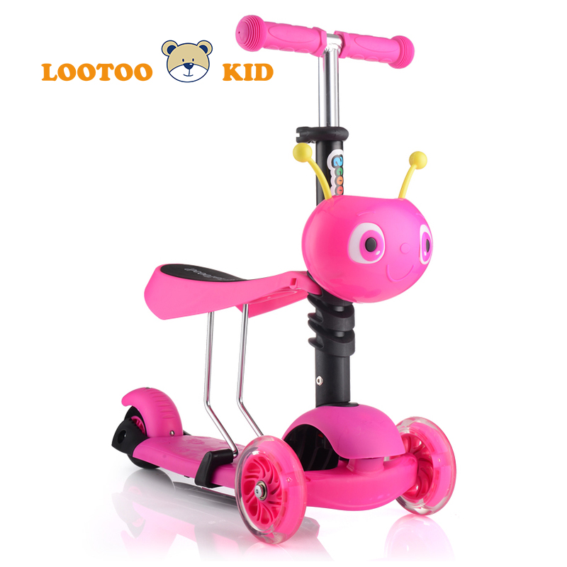 China manufacturers cheap price hot sale kids mini scooter 3in1