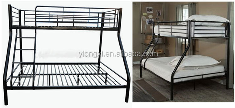 Wholesaler Cheap Black Triple Metal Bunk Bed USA
