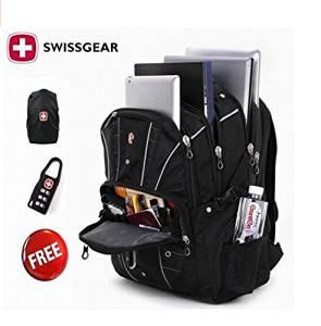 Get Quotations · Swiss Gear 17 inch Laptop Backpack Waterproof Traveling  Bag Outdoor Hiking Backpacks Students School knapsack Rucksack b3edb2867ac3e