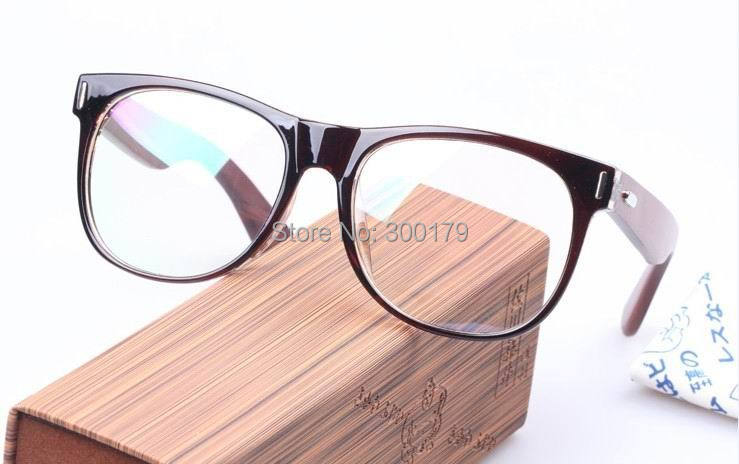 e2925f76123 Frame Color Multi. Get Quotations · Vintage S.F Wooden Arms Big Face Size  Men Women Optical Eyeglasses Eyewear Glasses Spectacles Prescription RX