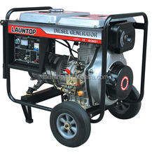 launtop 5.5kw LA186FAFG 9hp,474cc slient diesel generator, Copper Wire, Brush Motor, with AVR