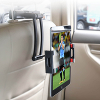 Universal 360 degree Rotating Back Seat Tablet Car Headrest Holder Grip Mount for Apple iPad 5-12""