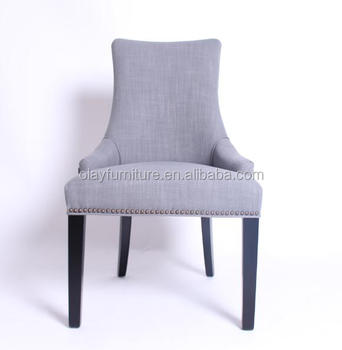 High Back Dining Chair Restaurant Wooden Chairs Upholstered French