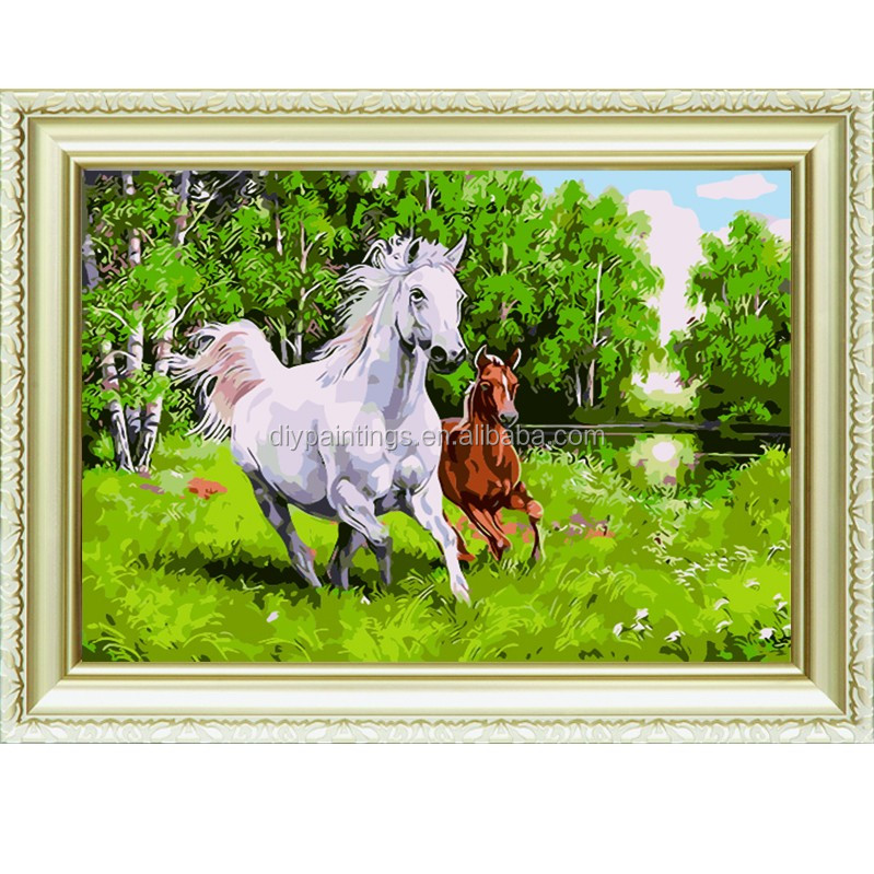 The horse running Brave fearless handmade artistic wholesale diy oil painting art on canvas by numbers for home decoration a167