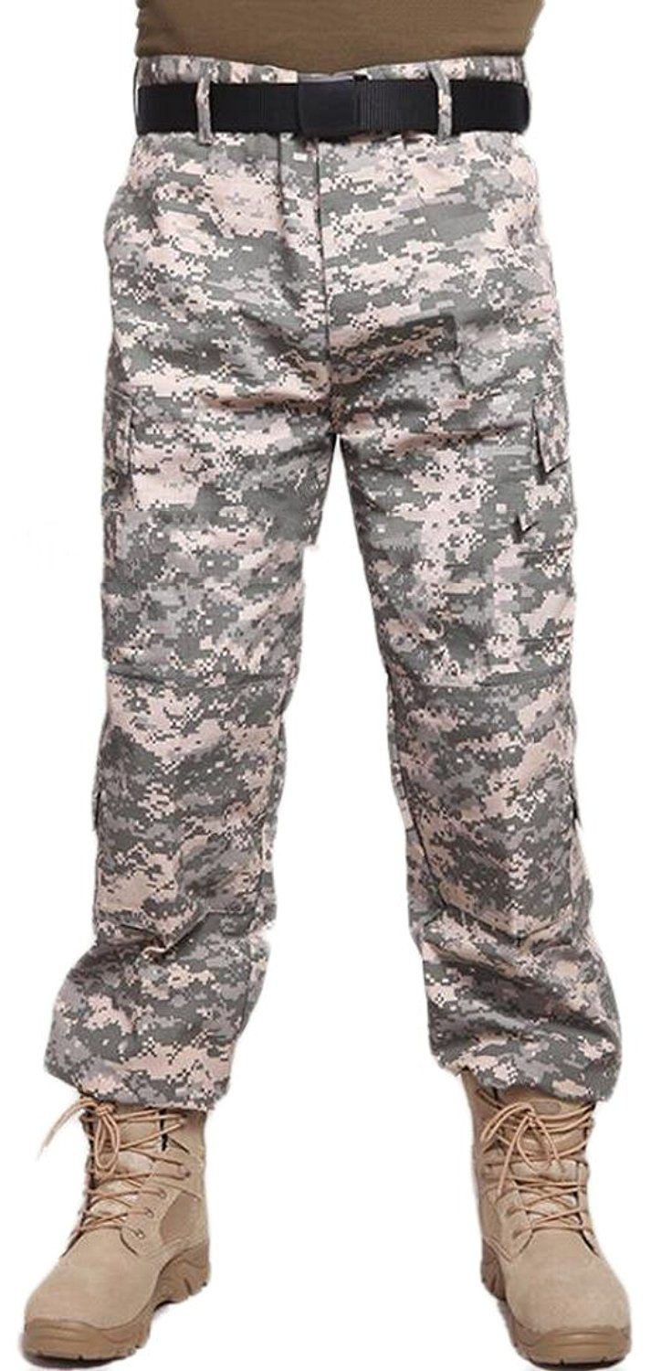 Get Quotations · Yayun Yayu Mens ACU Digital Camouflage Poly Cotton  Military BDU Army Fatigues Cargo Pants With 4b67a78284d