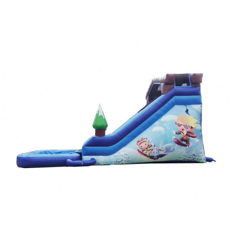 18FT SNOW RESORT SUPER WET DRY DUAL LANE SLIDE inflatable slides