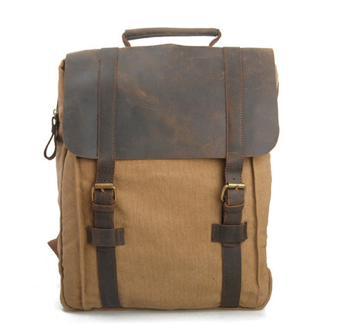 2015 New Canvas Bag fashion vintage backpack leisure outdoor bag canvas backpack canvas & genuine leather unisex free shipping