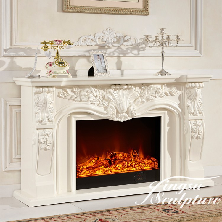 Hand Carved Gel Fuel Fireplace