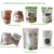 custom label printing Dry Grains block bottom pouch chia seeds packaging bag