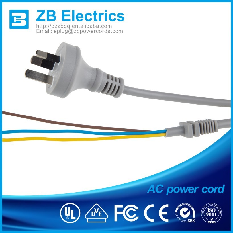 Vde/ul/ce/saa Power Plug / Extension Cord With Colorful ided Wires on