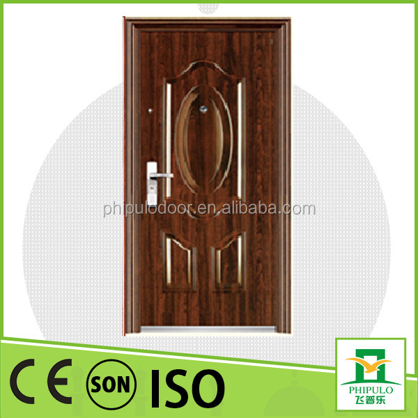 Chinese factory custom good quality security interior steel door with deep design