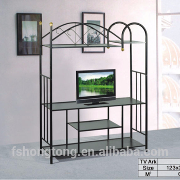Small High Tv Stand Metal Frame Wood