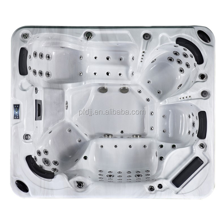 Factory Low Price Balboa Hot Tub, Acrylic Outdoor Hot Tub for 5 Persons with TV, Massage Hot Tub