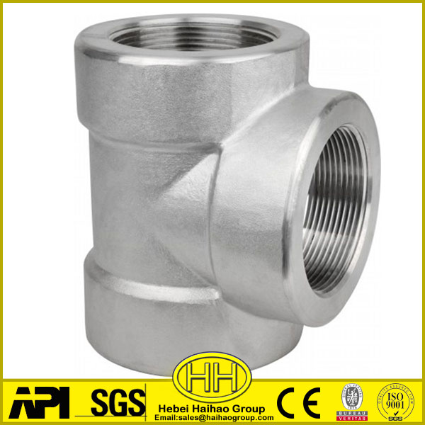 dn 200 steel pipe fitting equal tee