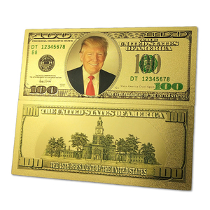 2018 Newest Arrival 45th President of the United States USD Trump Old Edition 100 Gold Foil Bill Note
