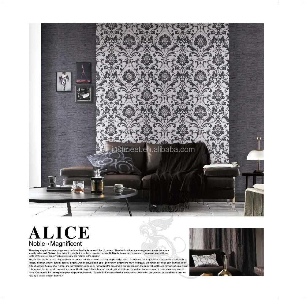 Beliebt ziegel design vinyltapeten/schwarz und weiß tapeten für ...