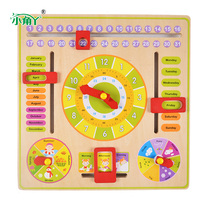 Colorful Kids DIY Wood Clock Learning Education Toys Magic Cubes Puzzles Develop Intelligence Game For Children