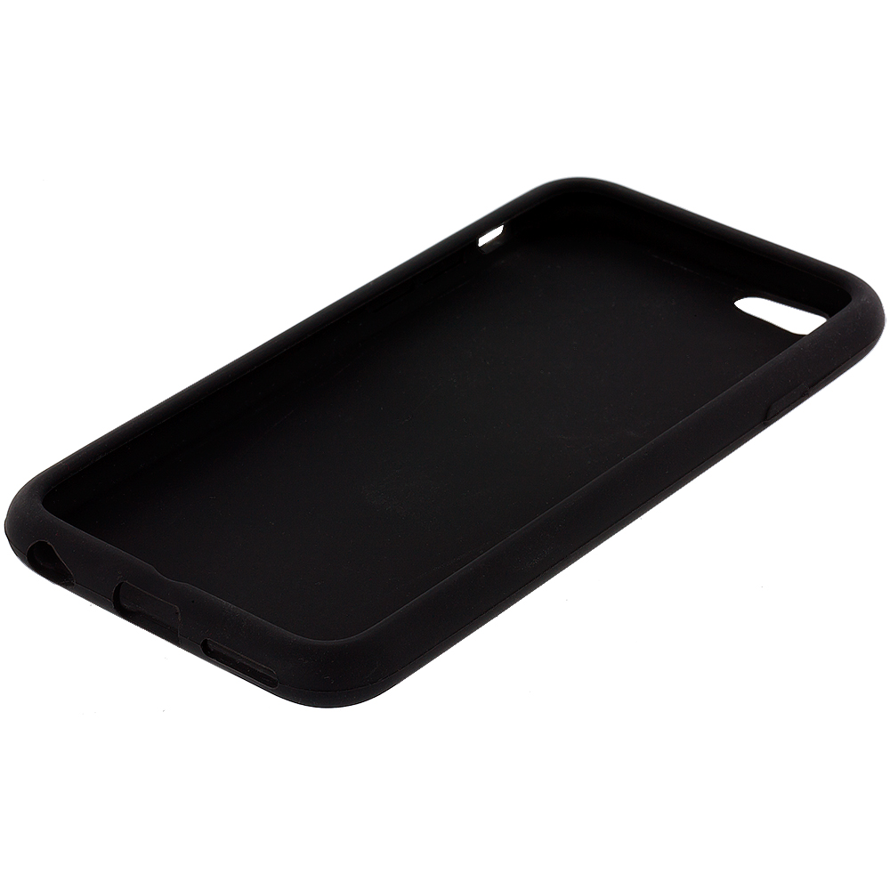 iphone 7 phone case black silicone