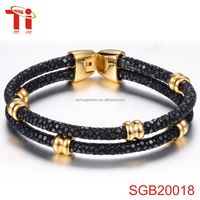 fashion bracelet 2016 jewelry 14k gold beads wholesale womens clasps for leather bracelets 316l stainelss steel bangles for men